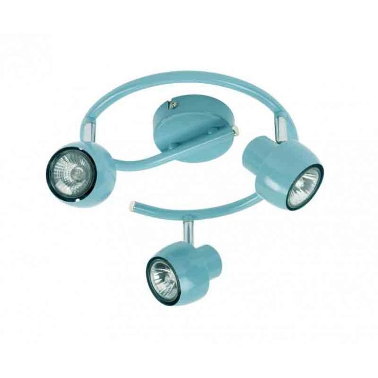 perfect spot plafonnier spirale lampes en mtal bleu turquoise pryv with plafonnier chambre ado. Black Bedroom Furniture Sets. Home Design Ideas