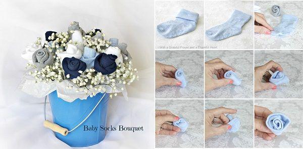 DIY Baby Socks Bouquet!