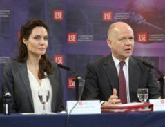 New Centre for Women, Peace and Security launched at London School of Economics by William Hague and Angelina Jolie Pitt. A ground-breaking initiative.