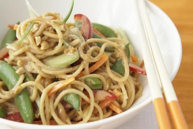 Make Irresistible Chinese Noodles in Peanut Sauce