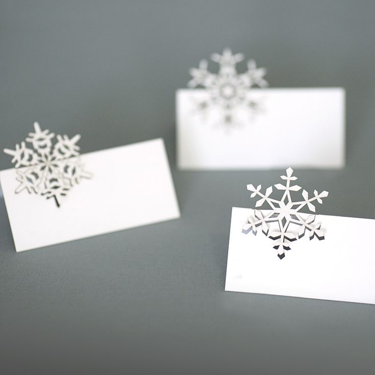 snowflakes place cards