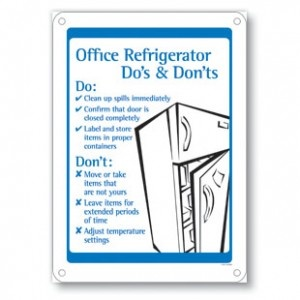 Include clear rules and guidelines for your fridge. Make ...