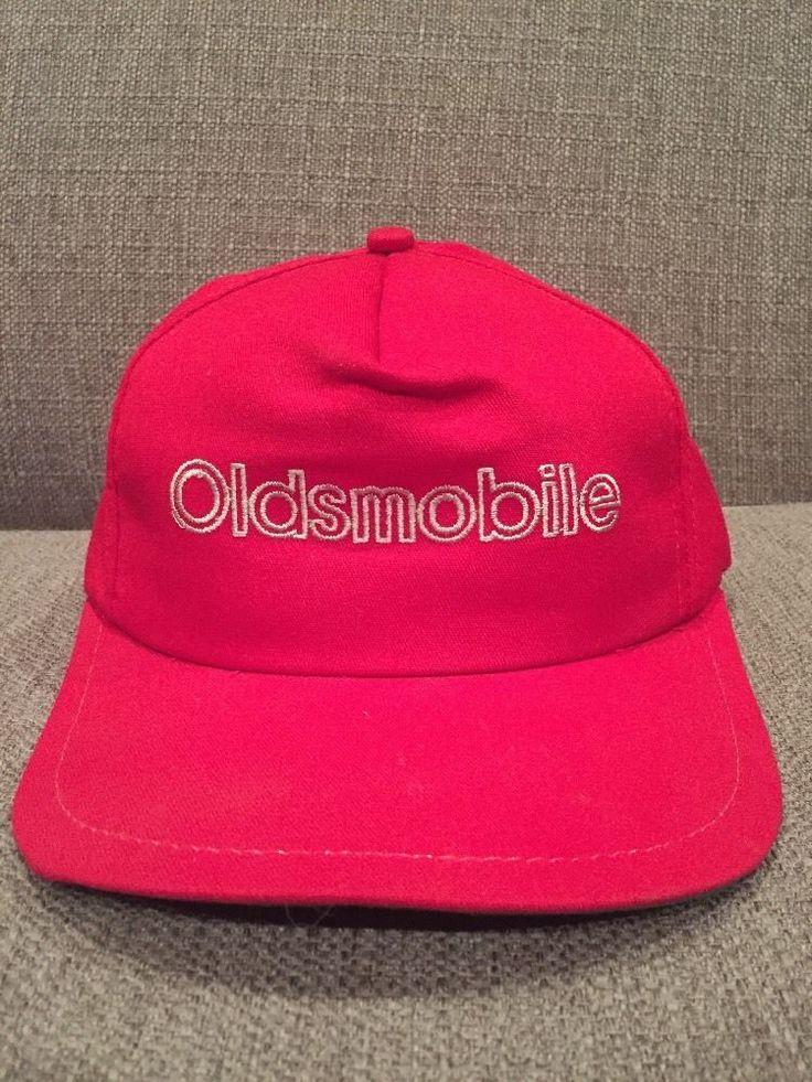 Vintage Oldsmobile Snap Back Hat Retro Red Chevrolet General Motors Olds Cutlass  | eBay
