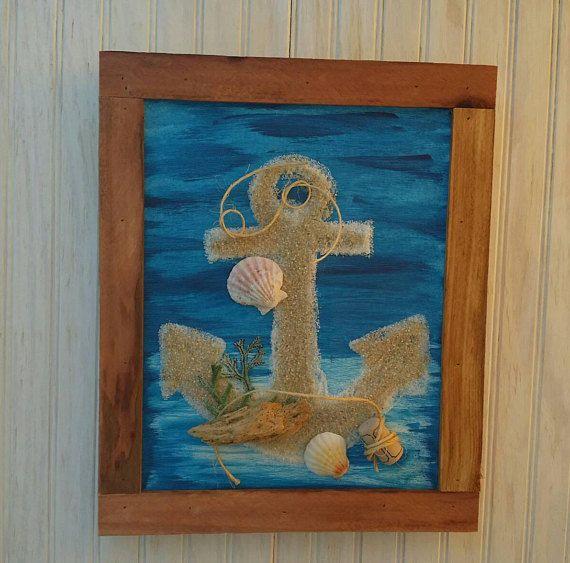 Coastal Decor Anchor Wall Art Wooden Navy Theme Gifts Home &