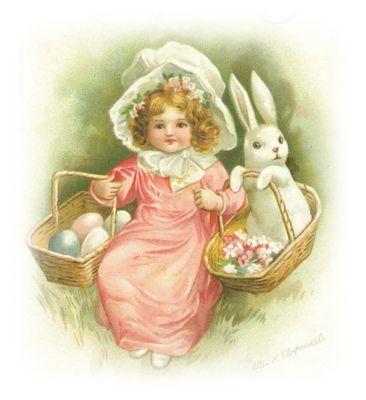 Easter: Vintage Postcards, Easter Postcards, Easter Cards, Art Cards, Vintage Easter, Clip Art, Easter Bunnies, Vintage Clip, Vintage Cards