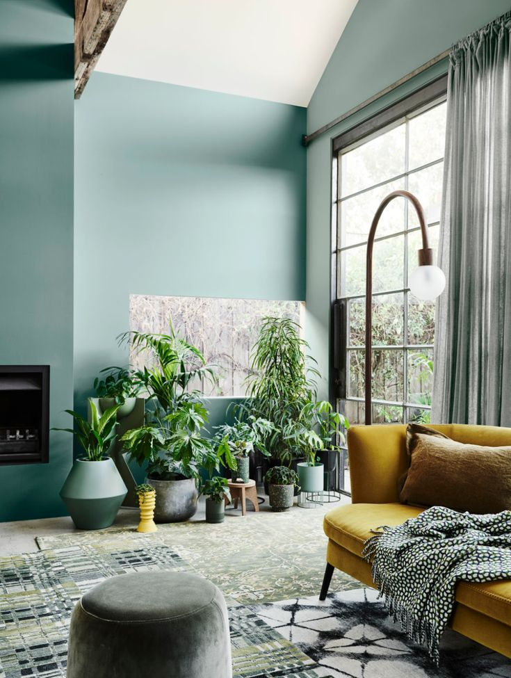 The 2020 Dulux Colour Forecast Is Revealed! (The Design Files) Green Color Schemes, Green Colour Palette, Living Room Color Schemes, Living Room Designs, Yellow Living Room Accessories, Colour Schemes For Living Room, Good Living Room Colors, Colourful Living Room, Living Room Green