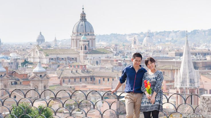 Casual photo shooting in Rome