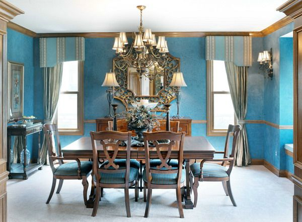 Interrior Dining Room Blue Concept
