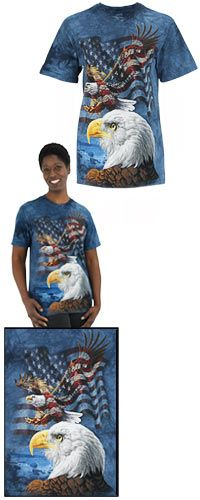 Soaring Eagle & American Flag T-Shirt at The Veterans Site