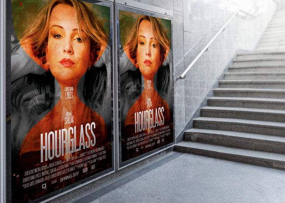 HourGlass Movie Poster Template by loswl on @creativemarket