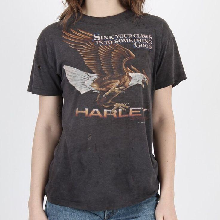 "32 Likes, 5 Comments - My Old T-Shirts (@vintage_tshirt_archive) on Instagram: ""Destroyed Harley Davidson #3demblem t-shirt. For sale. Dm if interested. . . . . . #3demblem…"""