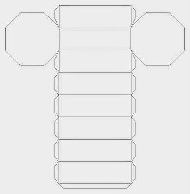 ESPAÇO EDUCAR: Molde de pirâmide octogonal para imprimir + Molde de prisma octogonal para imprimir