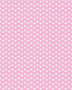 white hearts on pink background - free paper printable