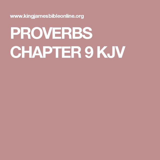 PROVERBS CHAPTER 9 KJV