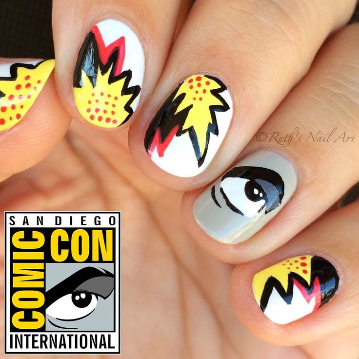 San Diego Comic Con 2015 Nails #ruthsnailart #nailart