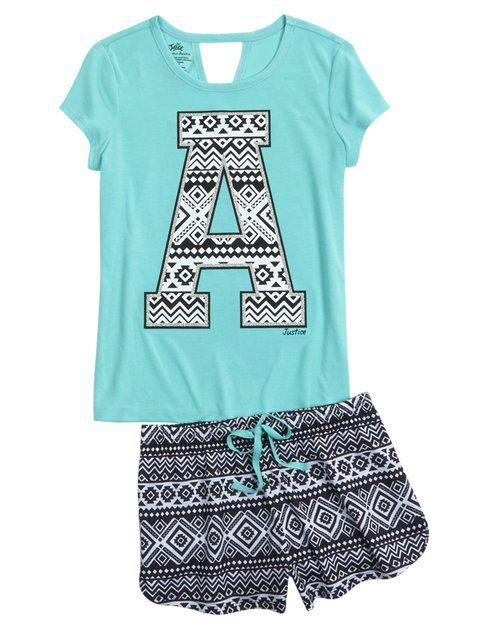 Initial Tribal Pajama Set #Justice                                                                                                                                                      More