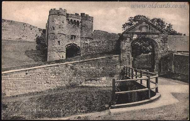 Old Postcards For Sale - Isle of Wight - The Entrance, Carisbrooke Castle, IOW - Local Publisher - T Piper, Carisbrooke