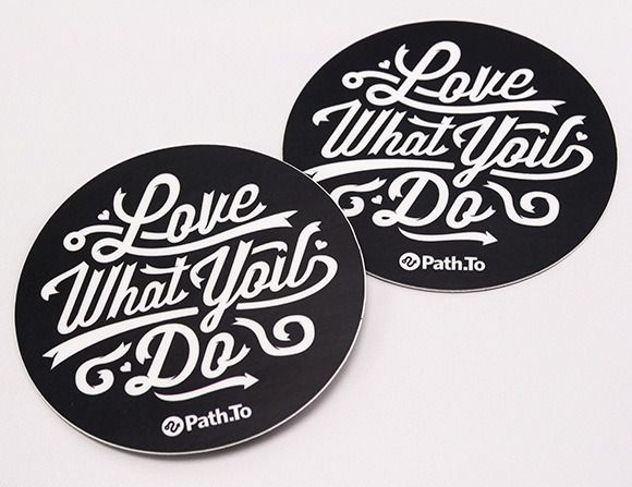 Self promotional stickers