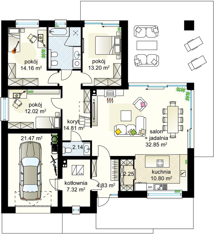 Antares 2T projekt - Партнёр 122.14 m² + garaż 21.47 m²