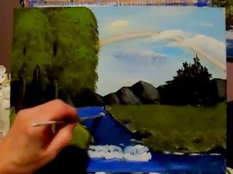6 Fan Brush techniques for Acrylic Painting, how to use your fan brush - YouTube
