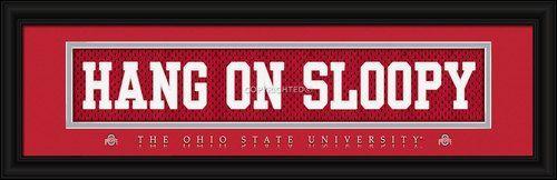 Ohio State Buckeyes Stitched Uniform Slogan Print - HANG ON SLOOPY
