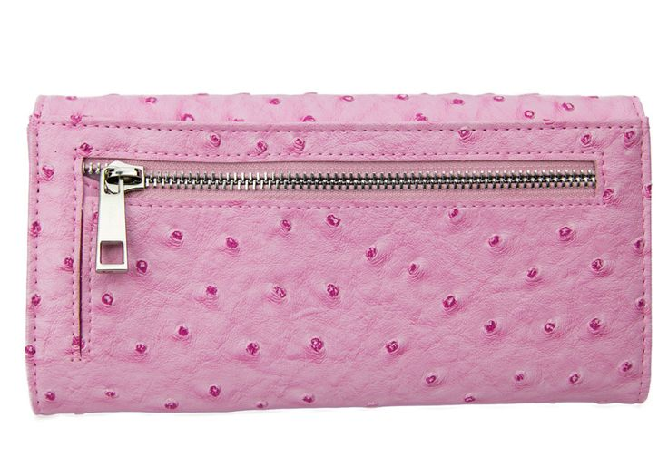 Pink Purse | Heaps Of Card Slots | Ostrich Leather Purse | Fashion Purse | Western Purse