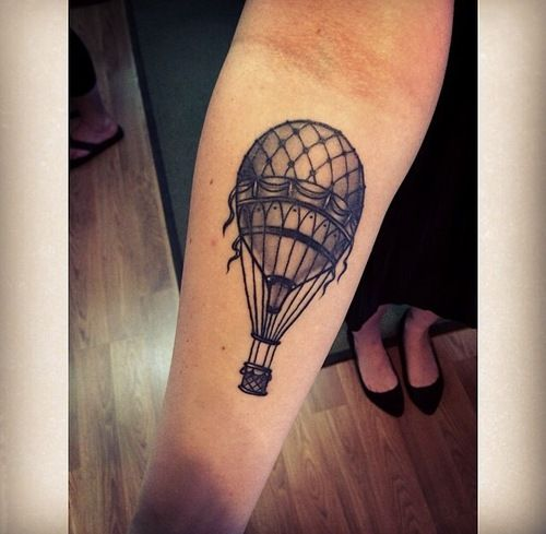hot air balloon tattoo - Tumblr