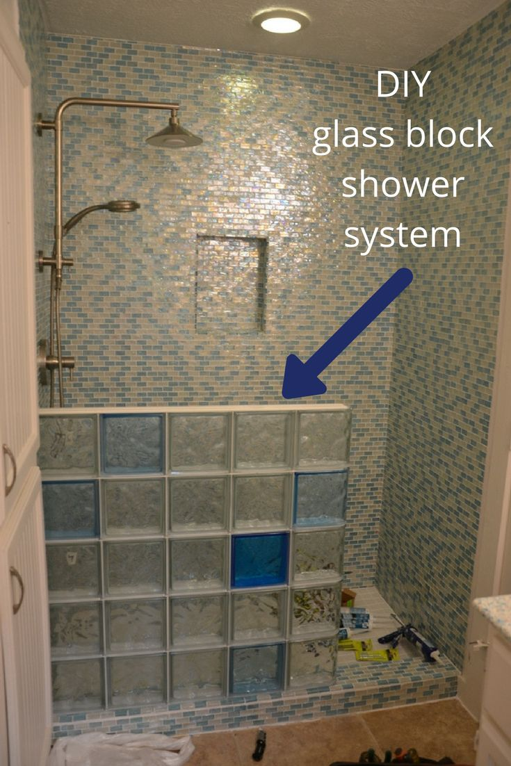 Glass Block Bathroom