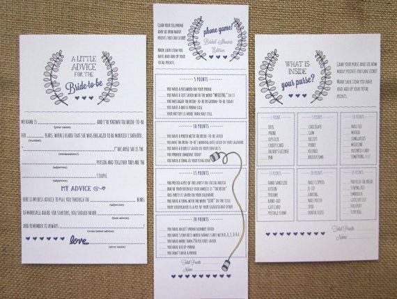 DIY Printable Bridal Shower Games Bundle / Advice by WootandWooks