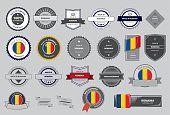 Hecho en Rumania junta, bandera de rumania (arte vectorial)