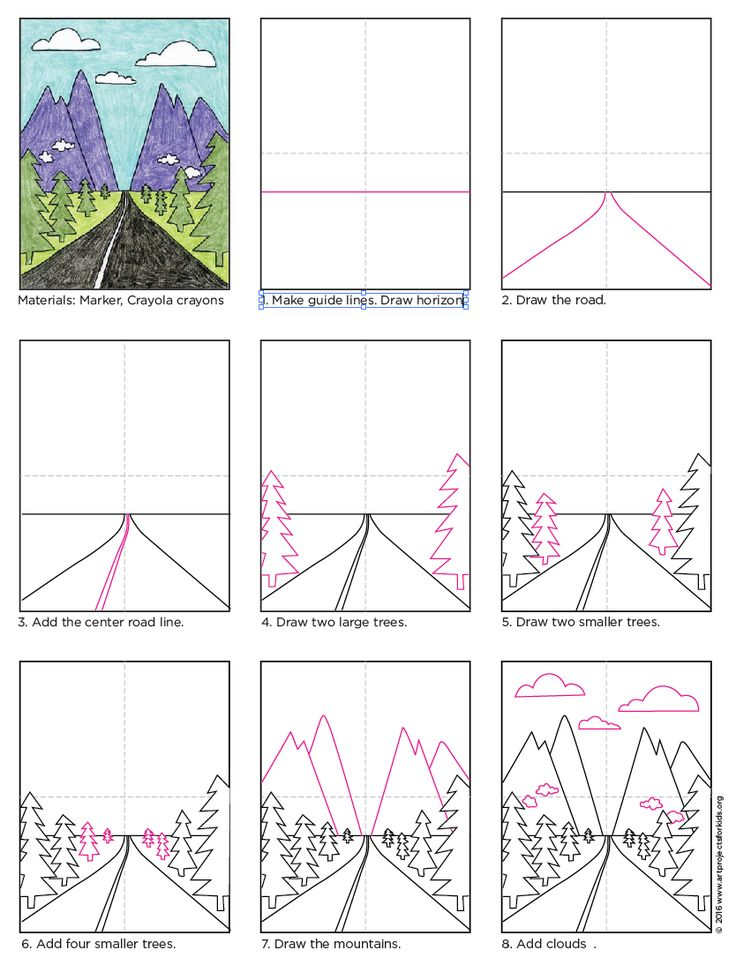How to Draw Perspective Landscape. PDF tutorial.