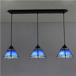 6 inch european country vintage glass shade indoor tiffany chandelier bedroom pendant ceiling light - Tiffany Chandelier