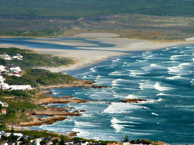 A view of Hermanus east from the Rotary drive on the top of the mountain, Hermanus, South Africa.