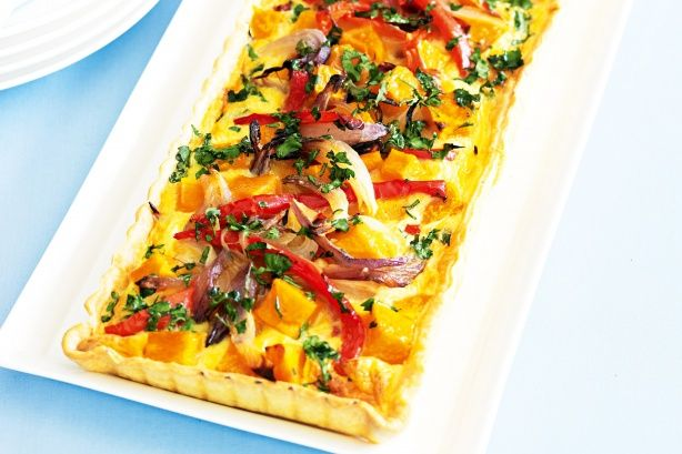 Roast vegetable quiche. Maybe add zucchini or eggplant
