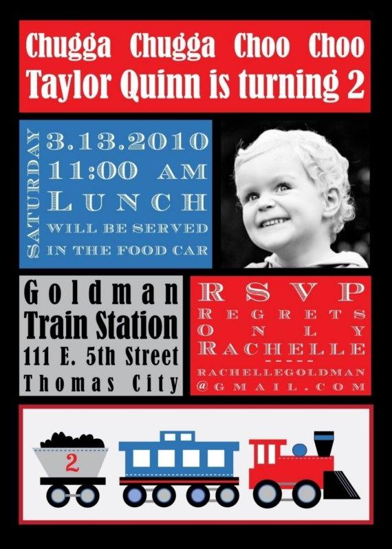 train party invites