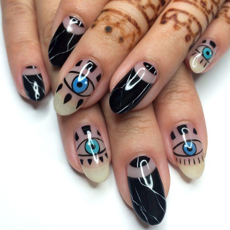 17 Best Ideas About Evil Eye Nails On Pinterest