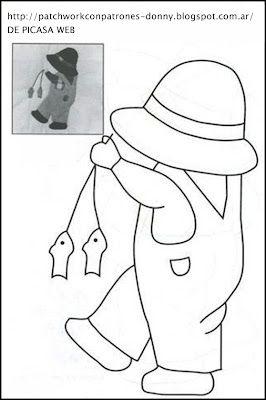 PATCHWORK= SOLO PATRONES = TODO GRATIS: PATCHWORK = PATRON DE TRABAJADOR = GRAFICO -IMAGEN DE TRABAJADOR