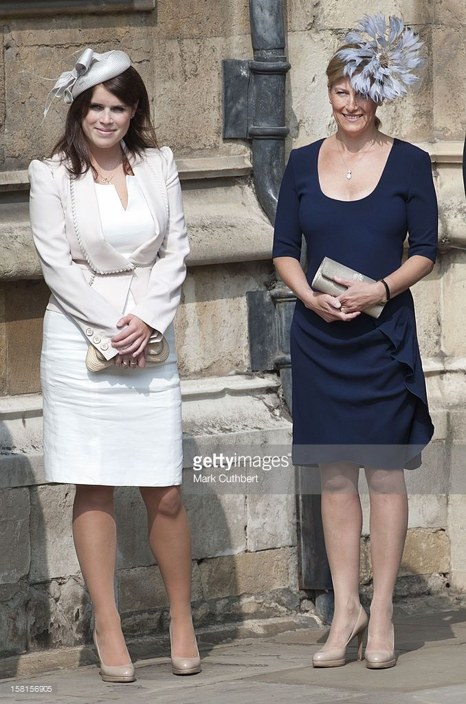 0abf81f9b5b Sophie Countess Of Wessex And Princess Eugenie Attend The Traditional  Easter Church Service At Windsor Castle.
