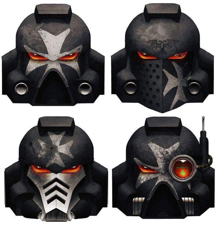 monolithslasher: Black Templar helmet designs.