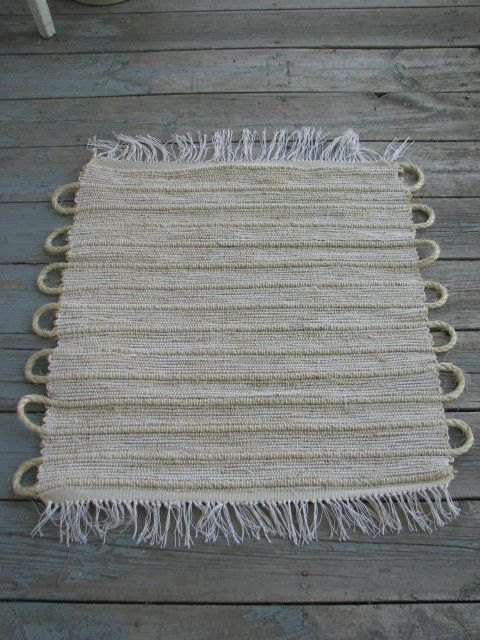 I made this jute door mat out of twine from the hardware store!