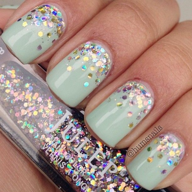 Photo by kattasaurus7 #nailart #nails #glitter