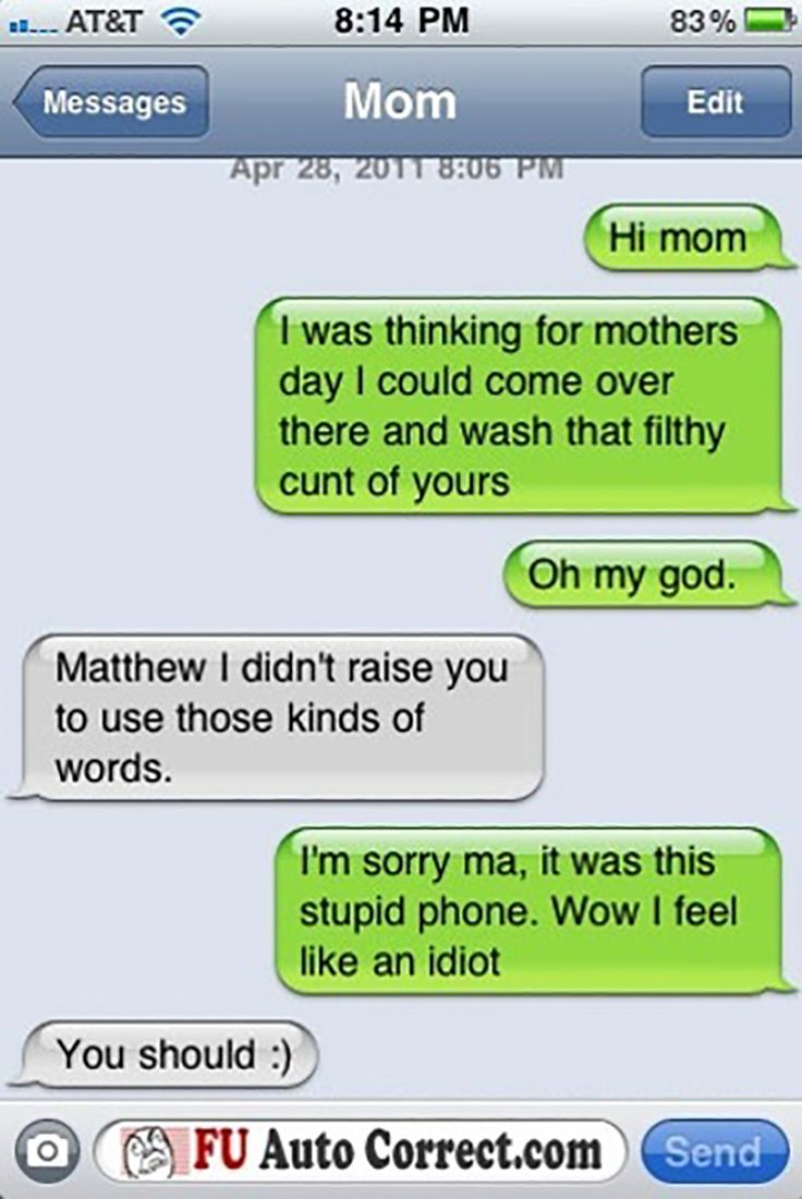 mom sex fail These are some awful texts to send your mom on mother's ...