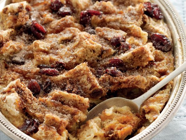 Raisin-bread pudding • The sweet raisins turn a rich bread into a sumptuous dessert.