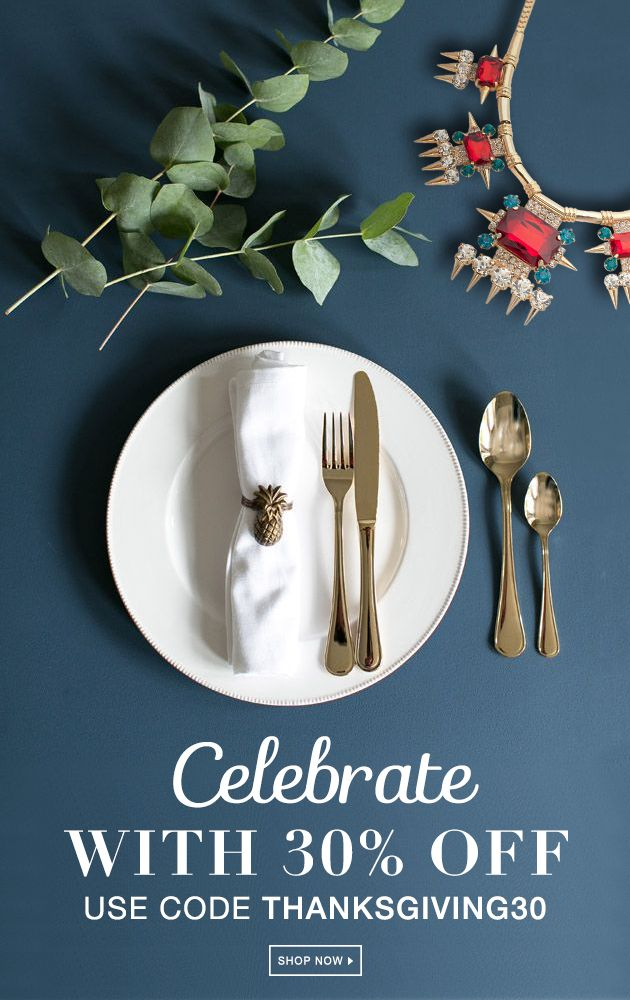 Use #code THANKSGIVING30 #SALE ENDS 12/05  The table is set, the guests have arrived, and now it's time for the #feast! #Save 30% off this #Thanksgiving with styles for you and yours.  #Serve up some #style: https://dommamomma.kitsylane.com/index.php?file=sale&sId=1004&page=all