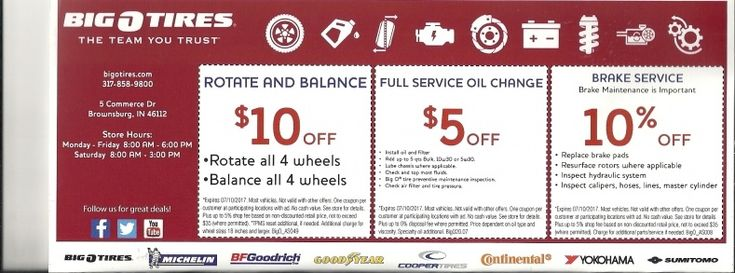 Big O Tires Brake Coupons Wheels - Tires Gallery Pinterest - coupon disclaimers