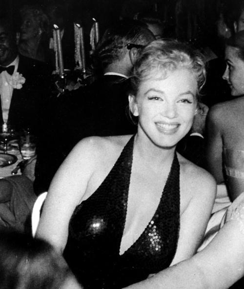 Marilyn Monroe at the April in Paris Ball at the Waldorf Astoria, NYC, April 1st 1957.