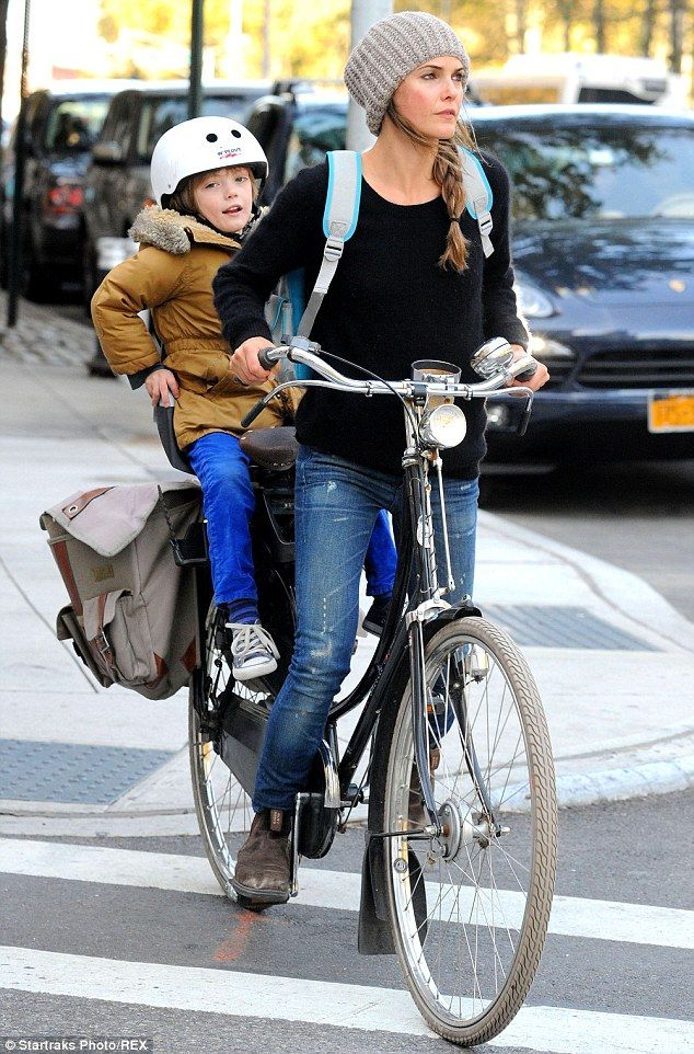 Keri Russell - seen here with her son River in October this year - has thanked Police for help with the incident
