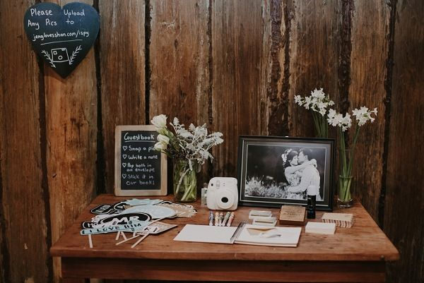 Wedding Polaroid Guestbook Wedding styling by Make Your Day makeyourdayweddingstyling.com.au Suzanne & Jeng