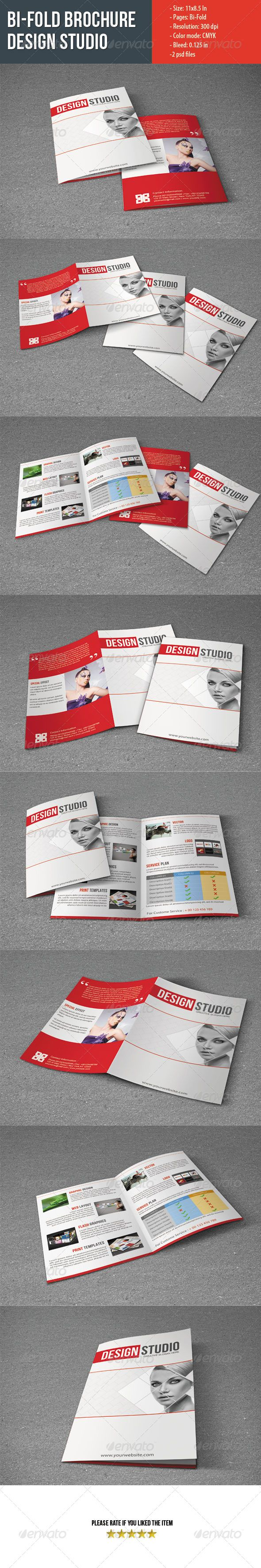 Bifold Brochure For Design Studio