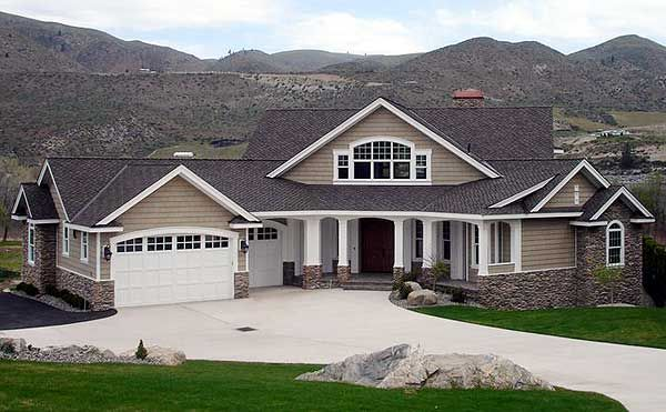 Plan w23252jd northwest craftsman sloping lot photo gallery house plans home designs new - Northwest home designs ...